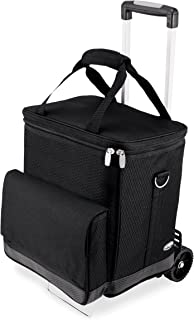 LEGACY - a Picnic Time Brand Cellar Insulated Six Bottle Wine Tote with Trolley