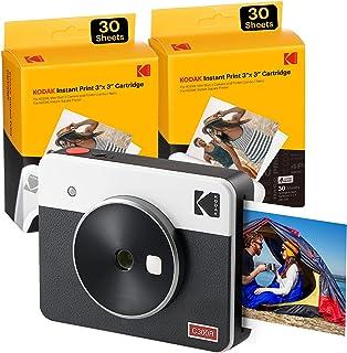Kodak C300R Mini Shot 3, Cámara Instantánea De Fotos con Impresora + 68 Fotos, Bluetooth, Formato Cuadrado 76X76 Mm, Compa...