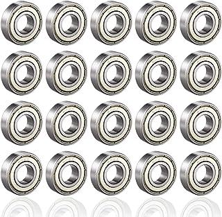 PUPOUSE 608ZZ Kogellagers, 20 stuks, 608zz metaal, dubbelgeslagen miniatuur, groefkogellagers voor skateboarden, scooter, ...