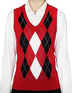 Ladies Fashion Argyle Sweater Vest