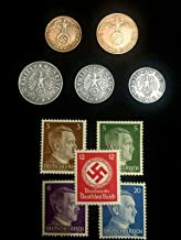DE 1938 WW2 Authentic Rare German Coins and Unused Stamps World War 2 Artifacts Perfect Circulated Coin