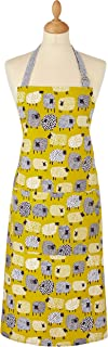 Ulster Weavers 7DTS01 Dotty Sheep Cotton Apron, Cotton/Chartreuse/White/Black