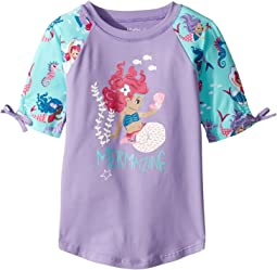 Underwater Kingdom Short Sleeve Rashguard (Toddler/Little Kids/Big Kids)