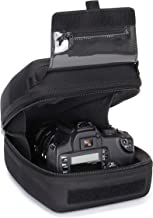 USA GEAR Hard Shell DSLR Camera and Zoom Lens Case with Molded EVA Protection, Quick Access Opening and Padded Interior - Compatible with Nikon, Canon, Olympus Cameras with Popular 300mm Lenses
