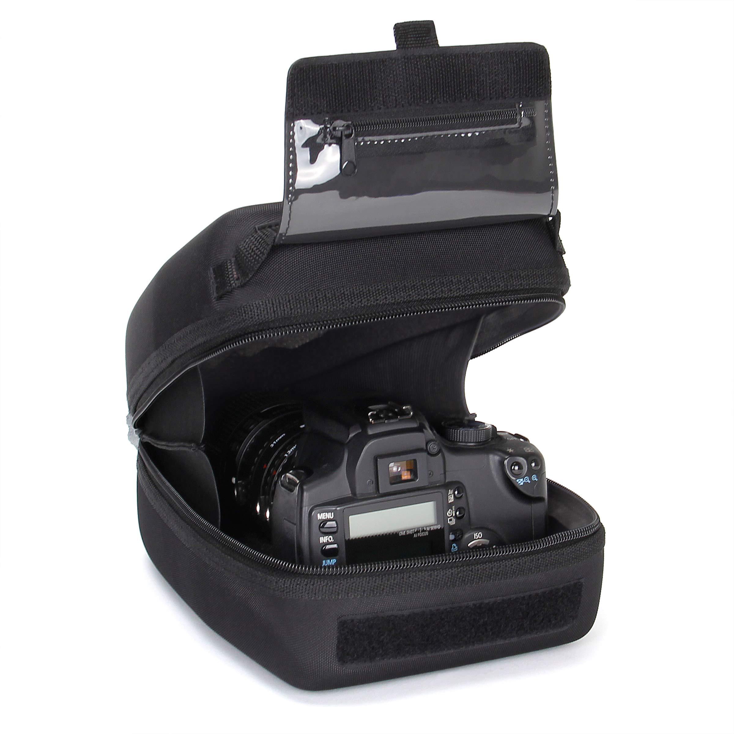 USA Gear Funda Cámara de Fotos Reflex Carcasa rígida y Estuche para Objetivos con Zoom de EVA, Interior Acolchado, Presilla para cinturón y asa de Caucho: Amazon.es: Electrónica
