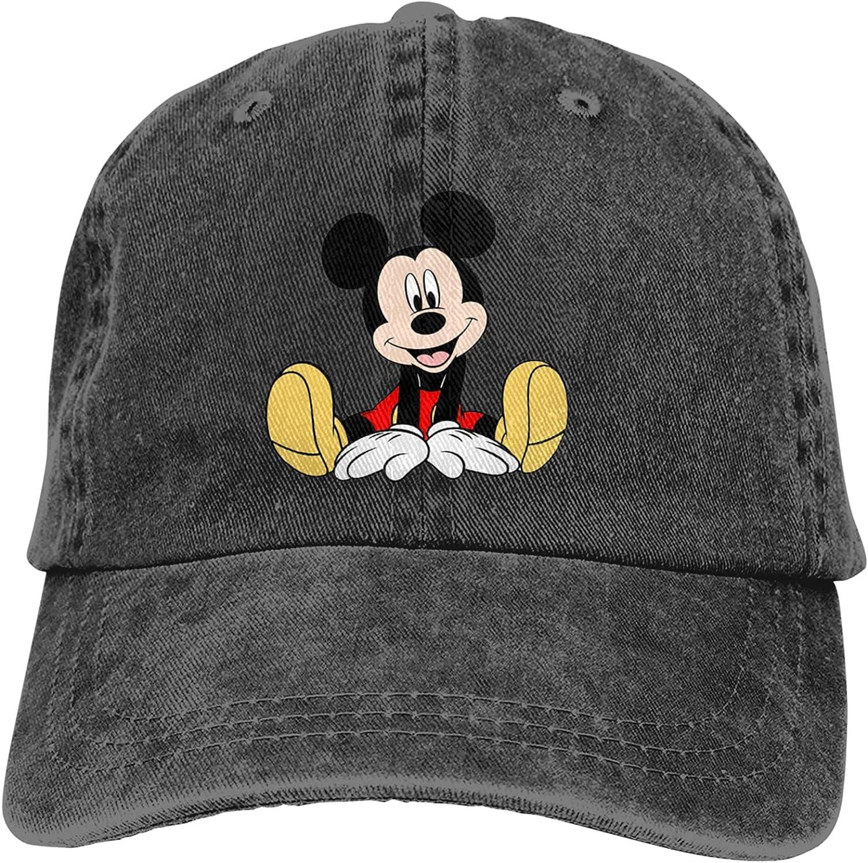 WYZQ Cartoon Mickey Baseball Cap Dad Hat Cowboy Hat Trucker Hat Retro Cowboy Hat Men's Women's Baseball Cap