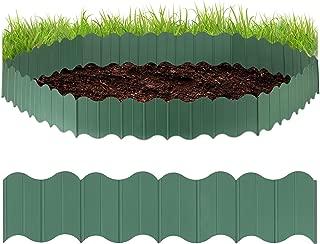 Recinzione In Plastica Per Giardino.Amazon It Relaxdays Bordature Da Giardino Letti Rialzati Per