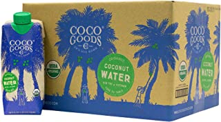 CocoGoodsCo Single-Origin 100% Organic Coconut Water, Non-GMO, Never from Concentrate