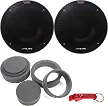 "$199 » Alpine R-S65.2 R-Series 6 1/2-inch (6.5"") Coaxial 2-Way 100 W RMS/300 WPeak Car Speakers Bundle w/Fast Rings 3-Pc Audio En..."