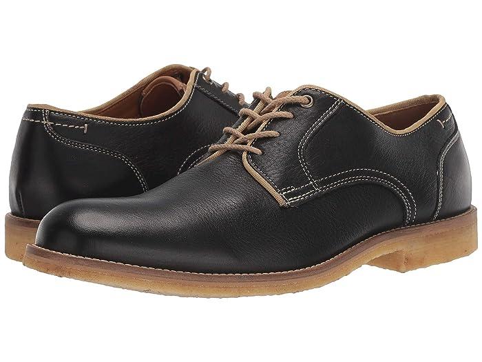 JandM EST. 1850  Howell Plain Toe (Black) Mens Lace Up Cap Toe Shoes