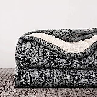 Super 59 100/% Organic Cotton Luxury Blanket Throw With Fringe Hypoallergenic