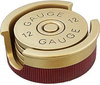 Large Version - Shotgun Shot Shell Coaster Set - 4 Coasters - 12 Gauge 30% Larger