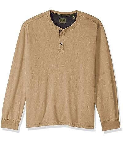 G.H. Bass & Co. Carbon Long Sleeve Jersey Henley Solid Shirt