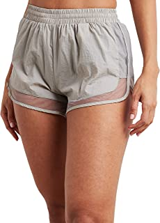 Mesh Insert Runner Shorts with Elastic Waistband 80389314 For Women Closet by Styli
