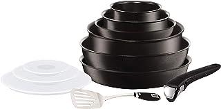 Tefal Ingenio Expertise - Set de 6 Piezas de aluminio con mango extraíble, sartenes de