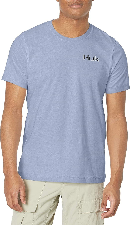 HUK Mens Short Sleeve Performance Tee Performance Fishing T-Shirt