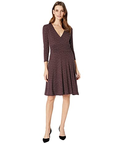 B Collection by Bobeau Katelynn Surplice Dress (Plum Speckle) Women