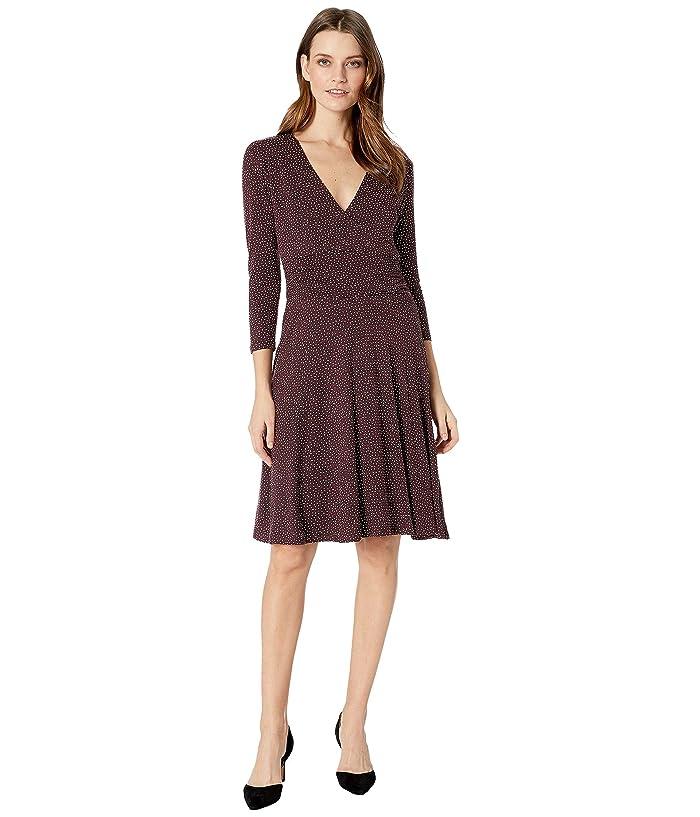 B Collection by Bobeau Katelynn Surplice Dress (Plum Speckle) Women