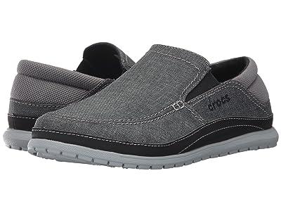 Crocs Santa Cruz Playa Slip-On (Graphite/Light Grey) Men