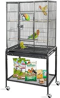 ZENY 53'' Pet Play Top Bird Cage Wrought Iron Select Bird Cage Large, Black