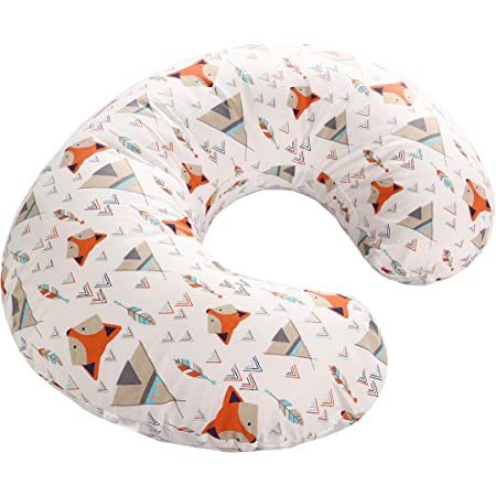 Colorful Triangle LAT Nursing Pillow Cover,100/% Natural Cotton Breastfeeding Pillow Slipcover,Extra Soft and Snug on Baby Nursing Pillow