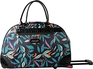 Kathy Van Zeeland Luggage 22 Inch Rolling Carry On Printed Wheeled Duffel (One Size, Midnight Breeze)