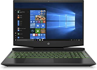 HP Pavilion Gaming 15-Inch Micro-EDGE Laptop, Intel Core i5-9300H, NVIDIA GeForce GTX 1660 Ti with Max-Q (6 GB), 8 GB SDRAM, 256 GB SSD, Windows 10 Home (15-dk0030nr, Shadow Black/Acid Green)