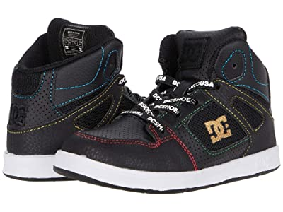 DC Kids Pure High-Top SE UL SN (Toddler) (Black/Multi) Boys Shoes