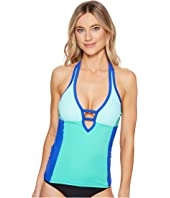Nautica - Shades of the Sea Color Block Halter Tankini Top