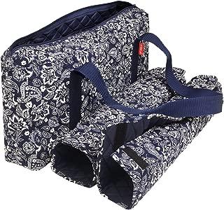 NEW! - Empty Mahjong Bag - Paisley Blue Soft Bag by Linda Li™ - Empty Bag Only