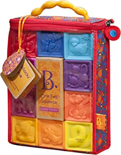 B. Toys – One Two Squeeze Baby Blocks - Building Blocks...