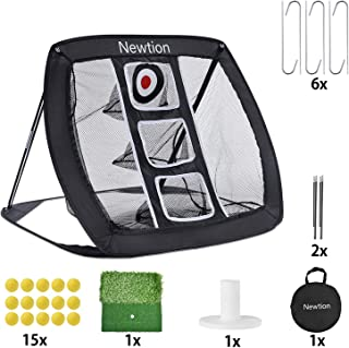 Newtion Pop Up Golf Chipping Net,Indoor/Outdoor Golf Hitting Net Collapsible Golf Accessories Golfing Target Net with 15 T...