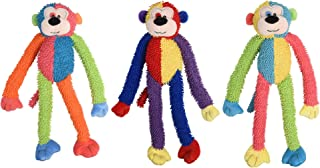 Multipet International DMP37812 Multicrew Monkey Plush Dog Toy, 17-Inch, Colors Vary, Assorted