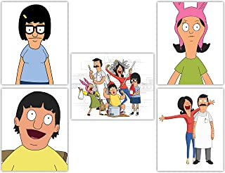 Bob's Burgers Wall Art Poster Collection - Tina, Louise, Gene and Linda Belcher in our Wall Decor Series - Set of 5 8x10 Photos