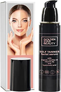 Self Tanner for Face – Face Tanner w/Hyaluronic Acid and Organic Oils, Self Tanners..