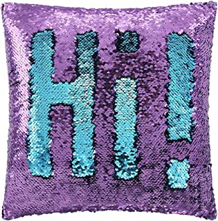 SIRENE Mermaid Pillow Reversible Sequin Pillow That Changes Color - Aqua purple Flip Sequin Pillow