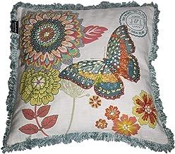 Bella Vida Cotton Decorative Pillow Cover, Embroidered, 21x21, 1-Piece