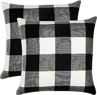 Amazon Com Black Decorative Pillows Inserts Covers Bedding