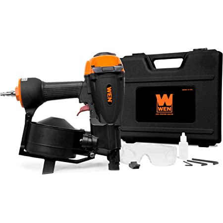 WEN 61783 3/4-Inch to 1-3/4-Inch Pneumatic Coil Roofing Nailer