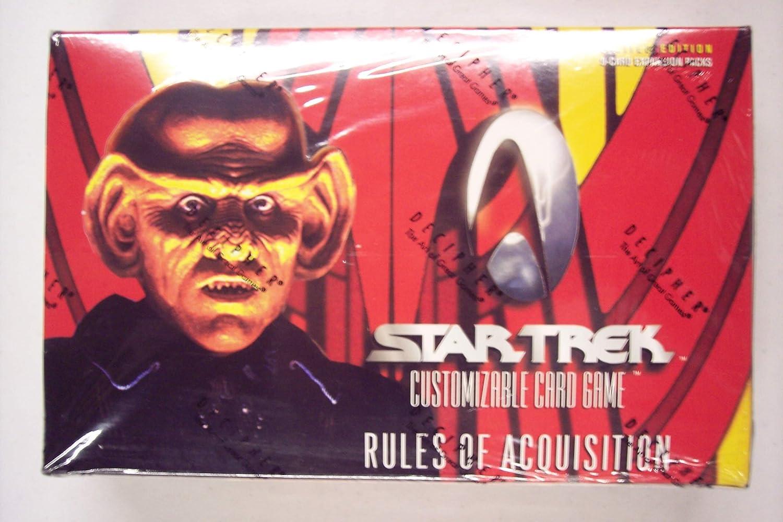 cómodamente 1999 Estrella Trek  Rules of Acquisition  Coched Juego Juego Juego Booster Box (30 packs box, 9 ...  grandes ahorros