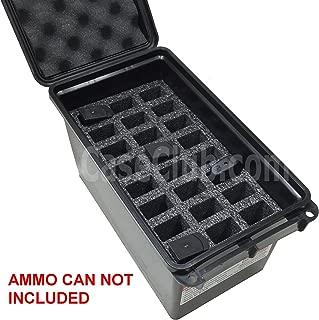 Case Club 24 Magazine Holder MTM 50 Cal Ammo Can Foam (Pre-Cut, Closed Cell, Military Grade Foam)