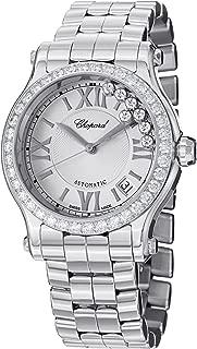 Chopard Happy Sport Round Ladies Stainless Steel Automatic Diamond Bezel Watch 278559-3004