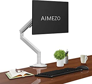 "AIMEZO Aluminum Monitor Mount Stand Desk Mount - Full Motion Swivel Adjustable Gas Spring Monitor Arm Mount Stand Fits for 14""-32"" Computer Monitor LCD/LED/TV Weight from 8.8-17.6lbs"