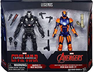 Marvel Legends 6 Inch Captain America: Civil War Action Figure Set (War Machine and Iron Man Mark 27)