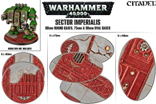 Games Workshop Sector Imperialis 60mm Round Bases, 75mm and 90mm Oval Bases