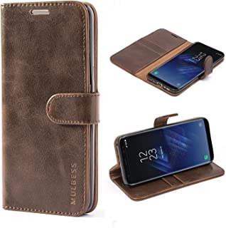 Mulbess Galaxy S8 Plus Protective Cover, Magnetic Closure RFID Blocking Luxury Flip Folio Leather Wallet Phone Case with Card Slots and Kickstand for Samsung Galaxy S8+ Plus, Coffee Brown
