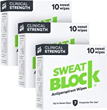 SweatBlock Antiperspirant - Clinical Strength (3 Box Deal - Save 10%), Reduce Sweat up to 7-days per Use