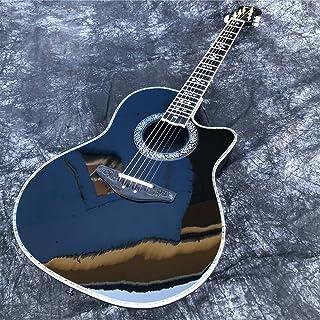 أسود الصلبة التنوب أعلى 6- سلسلة الغيتار الصوتية الكهربائية المتوازنة الجيتاريات غيتارفولك البوب  الغيتار الجيتار أطقم Ma...