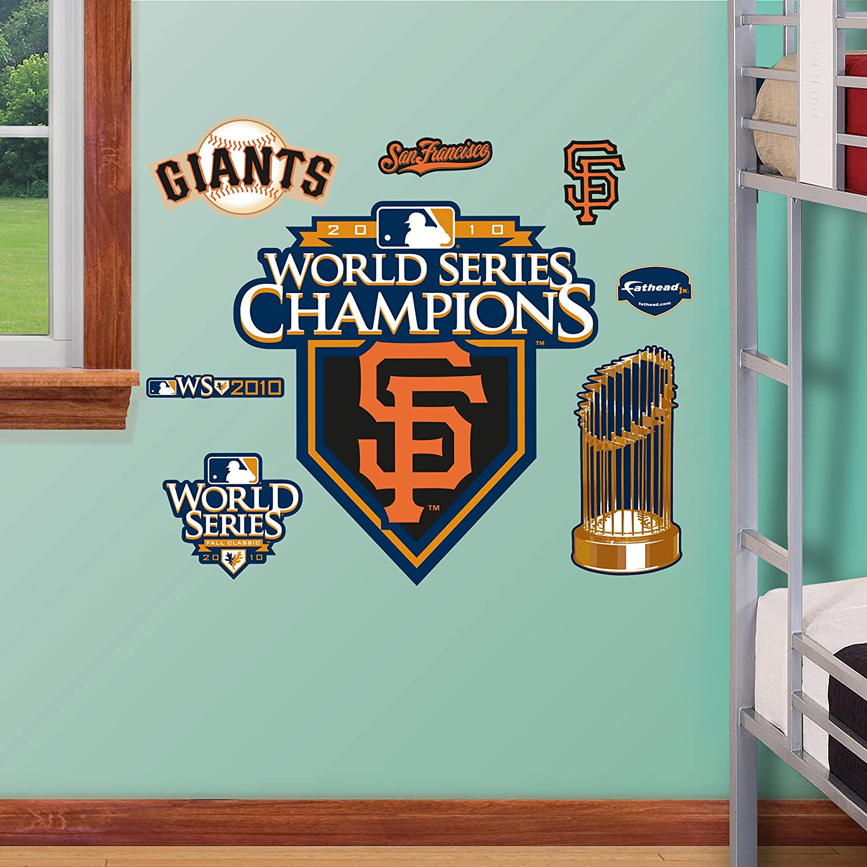 Fathead 1516143 Wall Decal, San Francisco Giants WS Champions Logo Junior