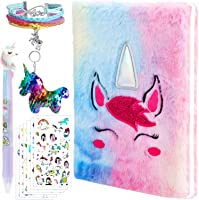 3 Pieces Sequined Unicorn Keychains for Party Gifts and School Supplies Outus Unicorn Notebook Set 2 Pieces Purple Unicorn Multicolor Pens Reversible Sequin Unicorn Pattern Notebook with Lock